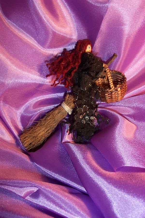 BLACK WITCH POPPET