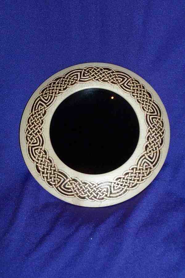 PYROGRAPHED SCRYING MIRROR