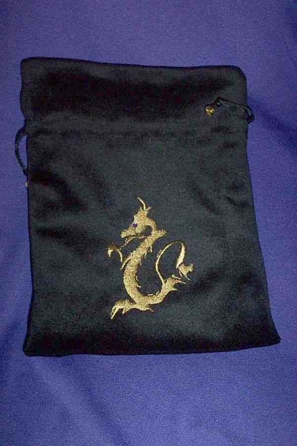 TAROT BAG - DRAGON ON BLACK