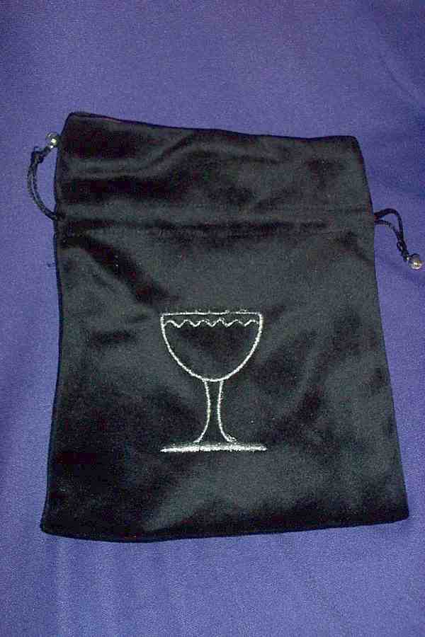 TAROT BAG - CHALICE ON BLACK