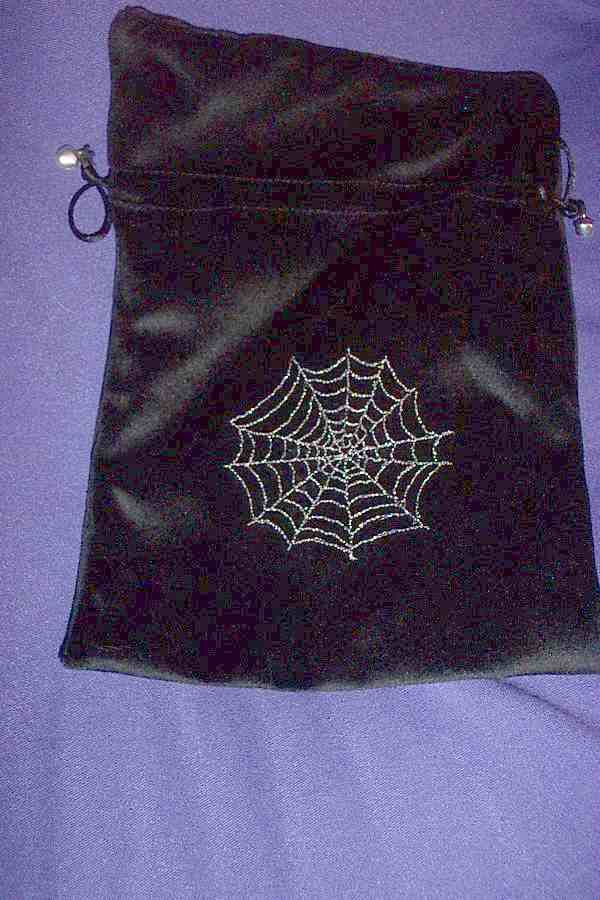 TAROT BAG - WEB ON BLACK