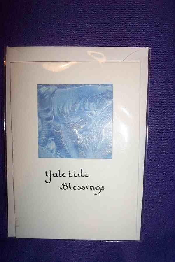 YULE CARD - WAX HAND PAINTED
