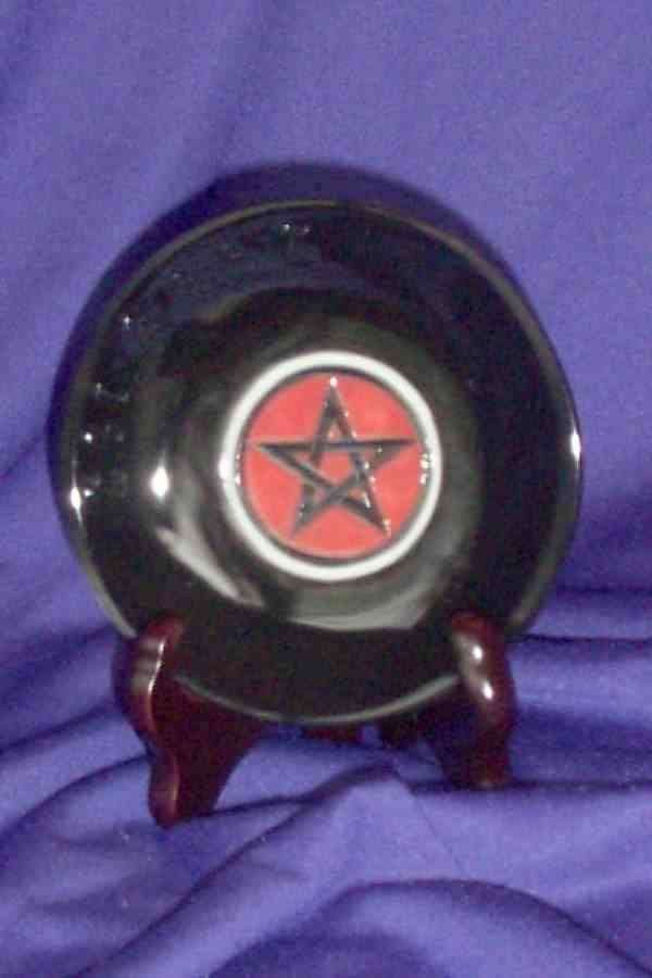GC - PENTACLE SCRYING PLATE WITH STAND