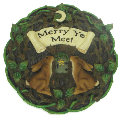 MERRY YE MEET HARE PLAQUE