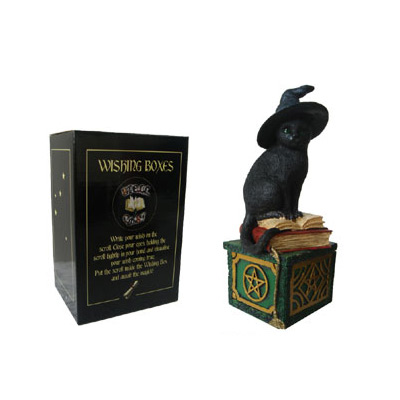 BLACK CAT WISHING BOX