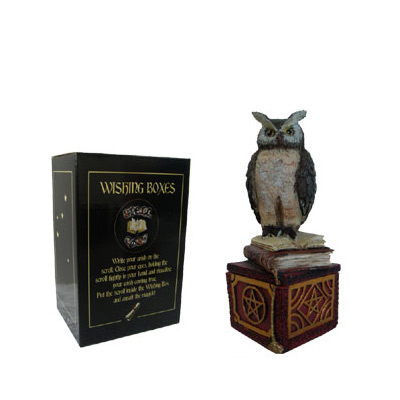 WISE OWL WISHING BOX